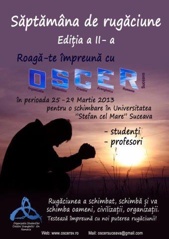 Saptamana de rugaciune OSCER Sv