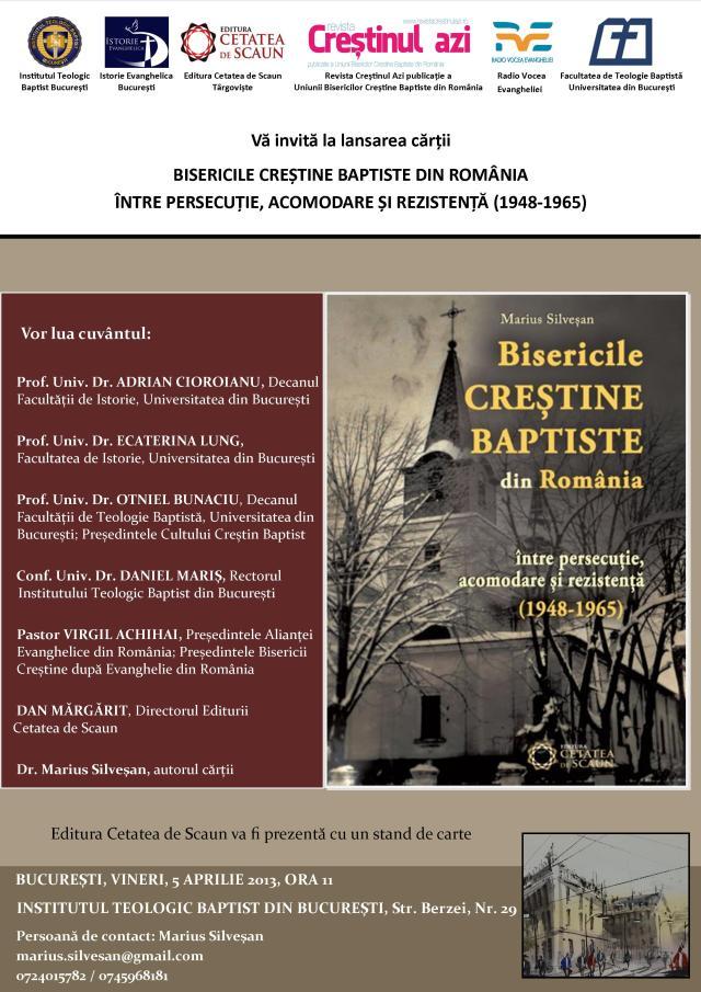 bisericile crestine baptiste intre persecutie acomodare si rezistenta