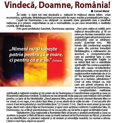vindeca, Doamne, Romania !