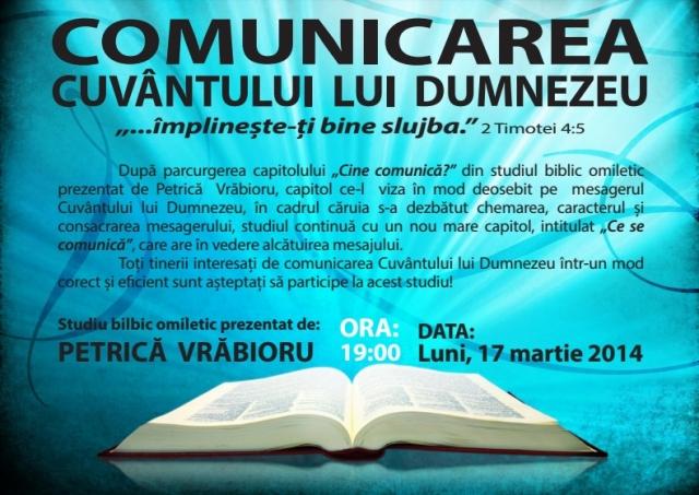 Comunicarea Cuvantului lui Dumnezeu