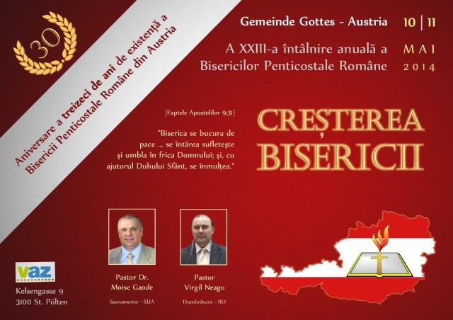 a XXII-a intalnire anuala a bisericilor romane din Austria