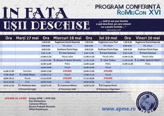 programul conferintei Romiscon 16
