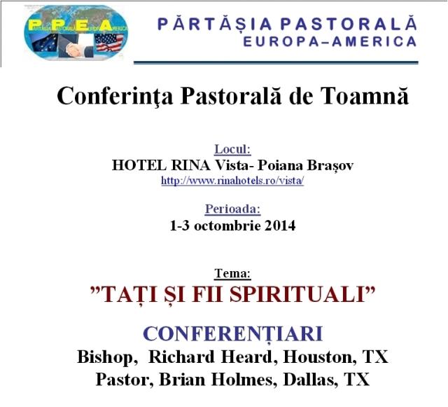 conferinta pastorala Europa - America-vert