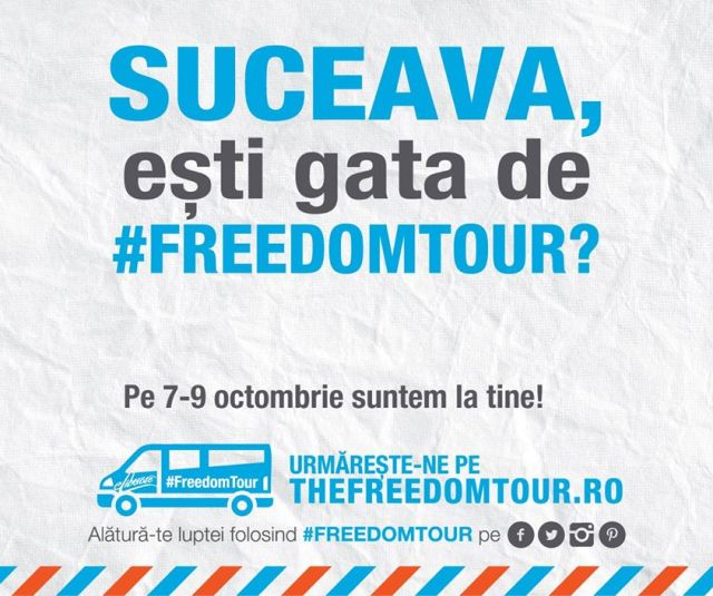 Freedom tour la Suceava