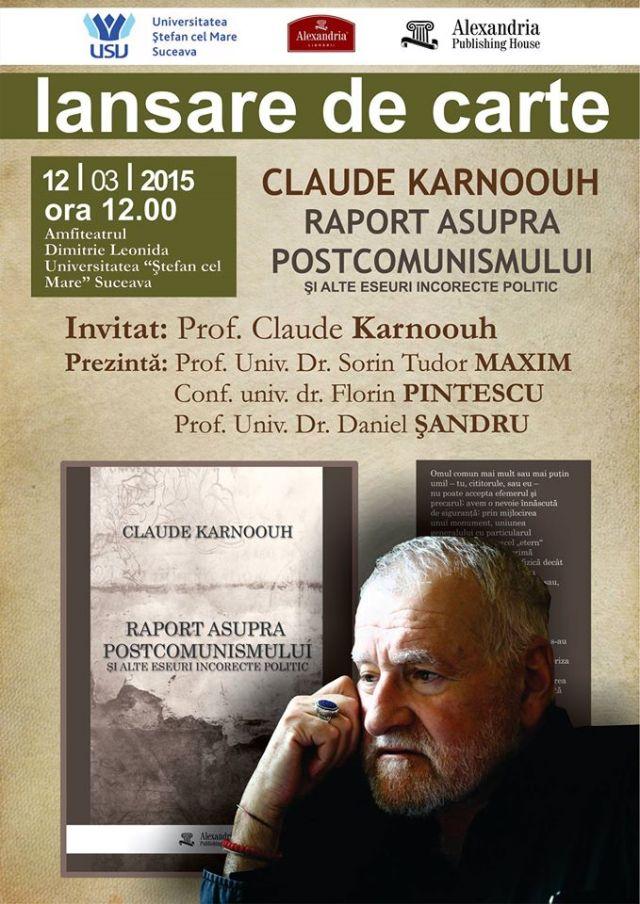 Raport asupra postcomunismului - lansare de carte