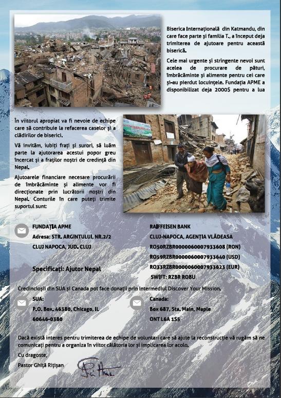 ajutor Nepal 2
