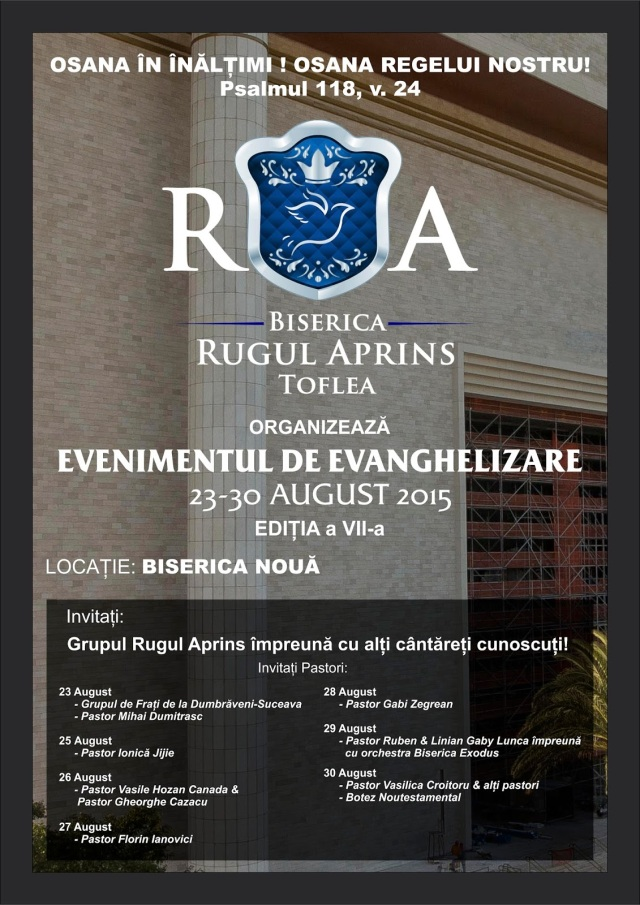 afis toflea  Rugul Aprins