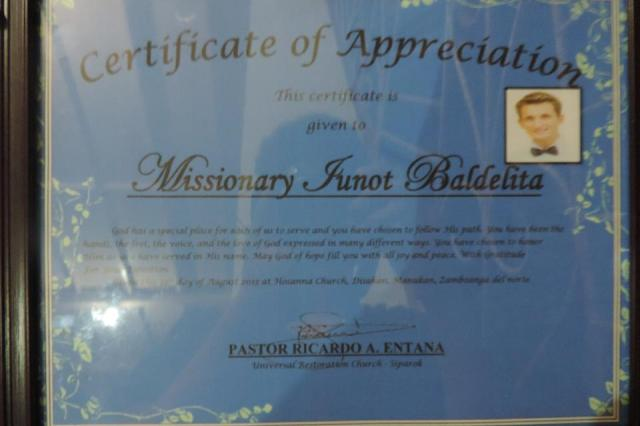 Ionut Badelia - certificat de apreciere