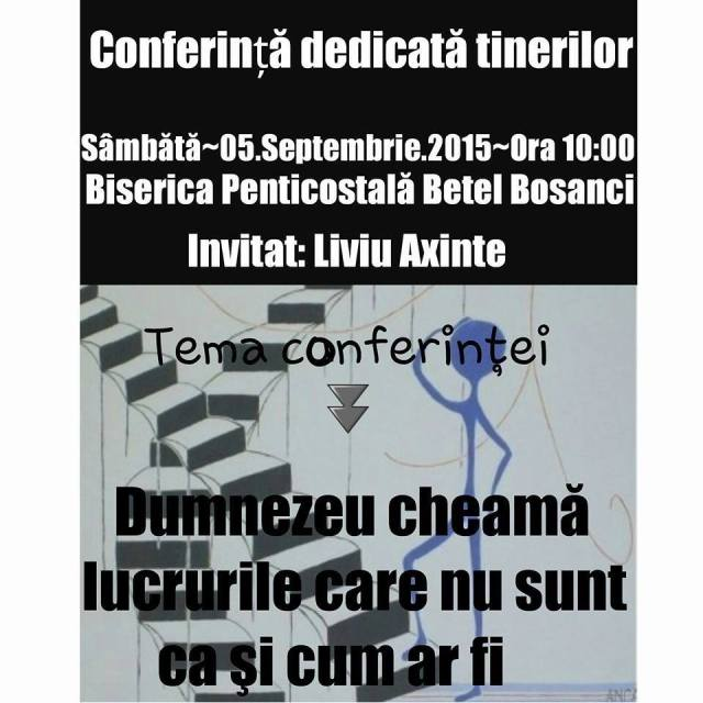 Conferinta tineret Comunitatea Penticostala Suceava