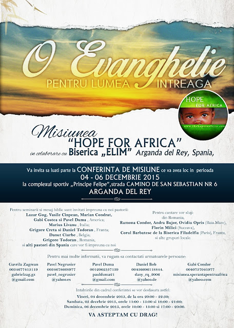 conferinta Hope for Africa