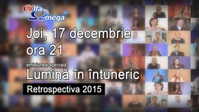 Retrospectiva 2015 la AlfaOmegaTV