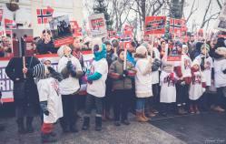 Protest pentru familia Bodnariu Suceava 12