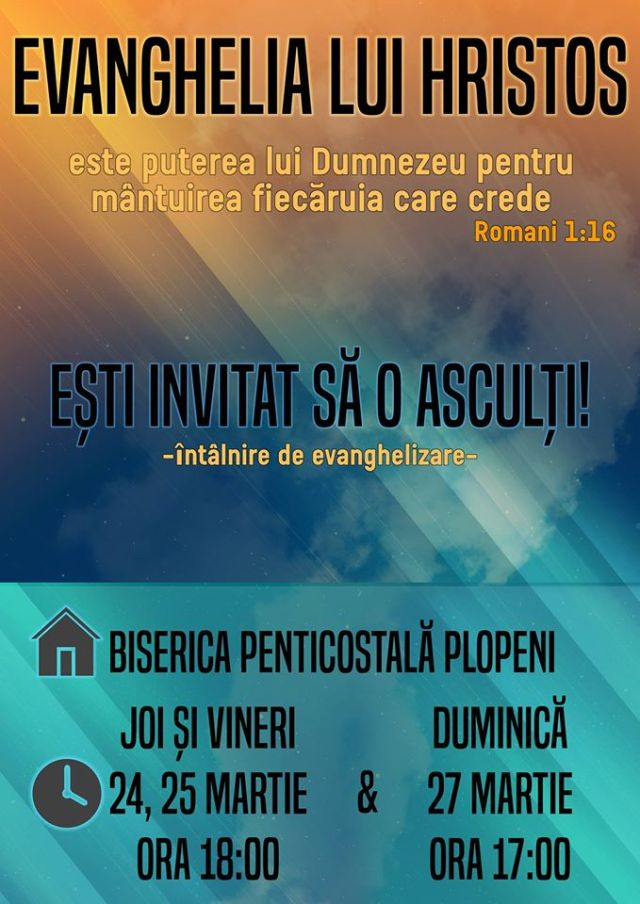 evanghelizare Plopeni Suceava