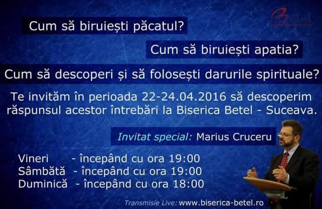 Marius Cruceru la Suceava