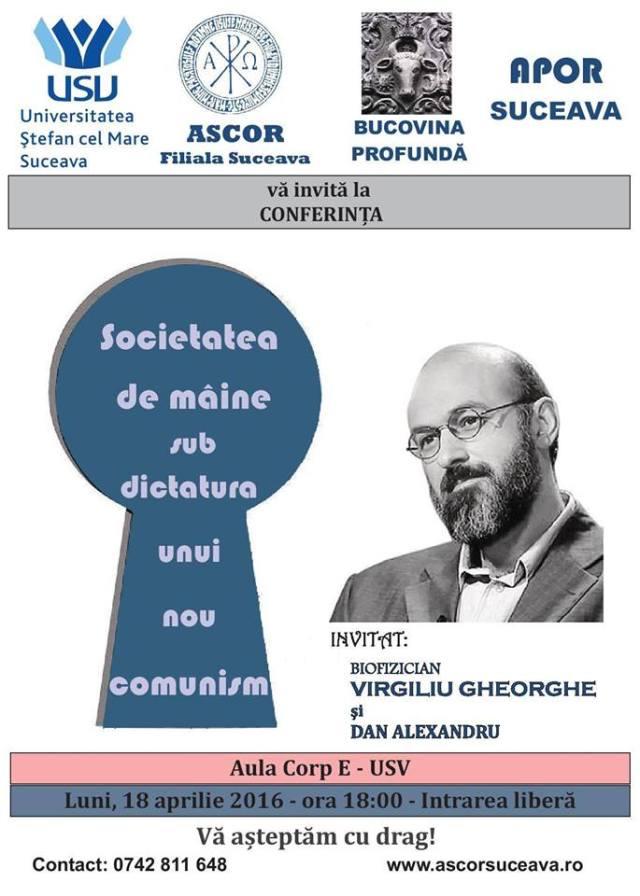 Virgiliu Gheorghe la Suceava