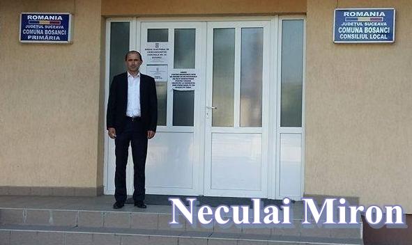 Miron Neculai primar Bosanci