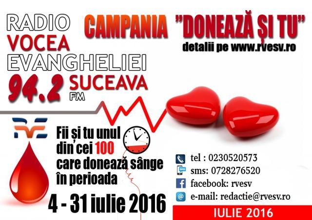 campania doneaza sange rve