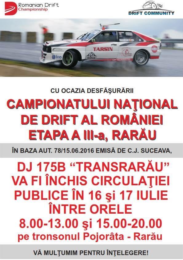 campionatul nationa de drift 2016 Rarau