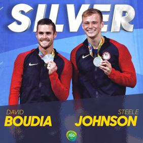David Boudia and Steele Johnson silver