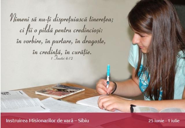 Instruirea misionarilor de vara
