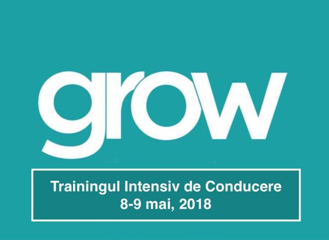 Grow - training intensiv de conducere 8-9 mai 2018