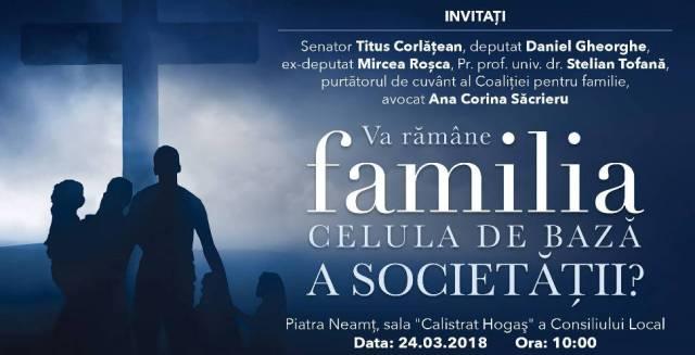 Familia celula de baza a societatii Piatra Neamt