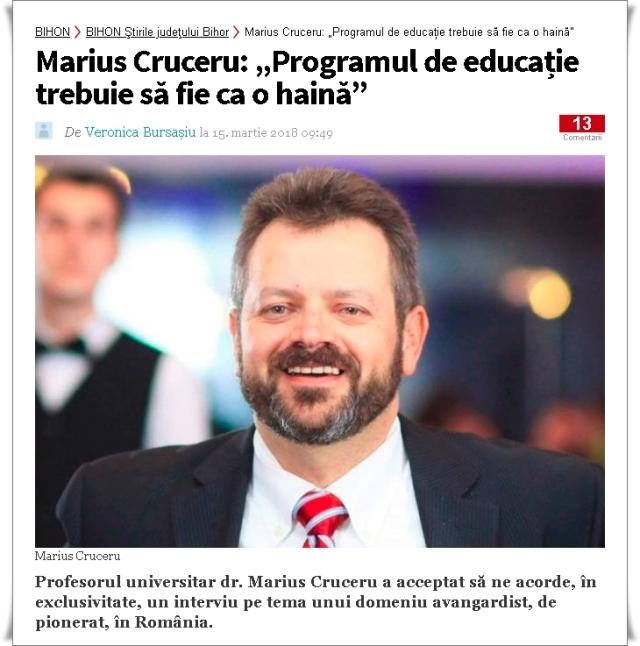 Marius Cruceru articol