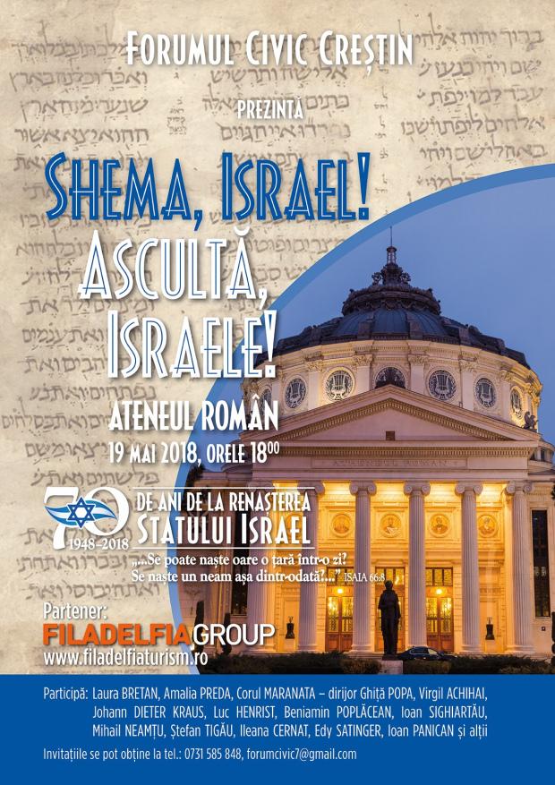 Asculta Israele! eveniment la Ateul Roman