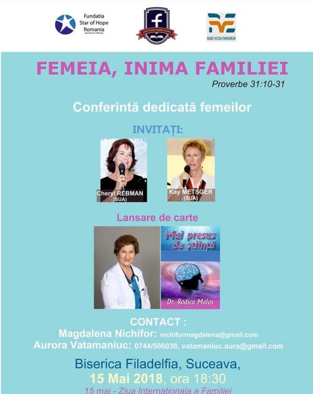 conferinta pentru femei la Suceava